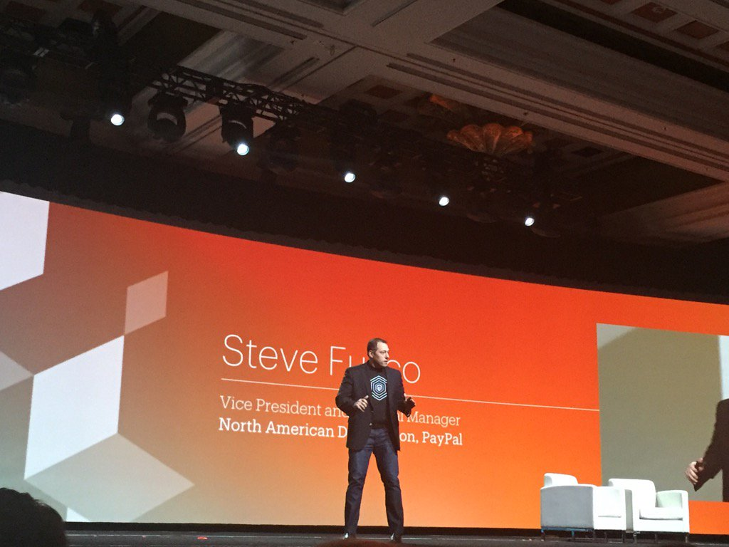jasonpaypal: Steve Fusco talking rewiring commerce at Imagine. @PayPal4Business #MagentoImagine @braintree @paypal https://t.co/NoOPmjWLhl