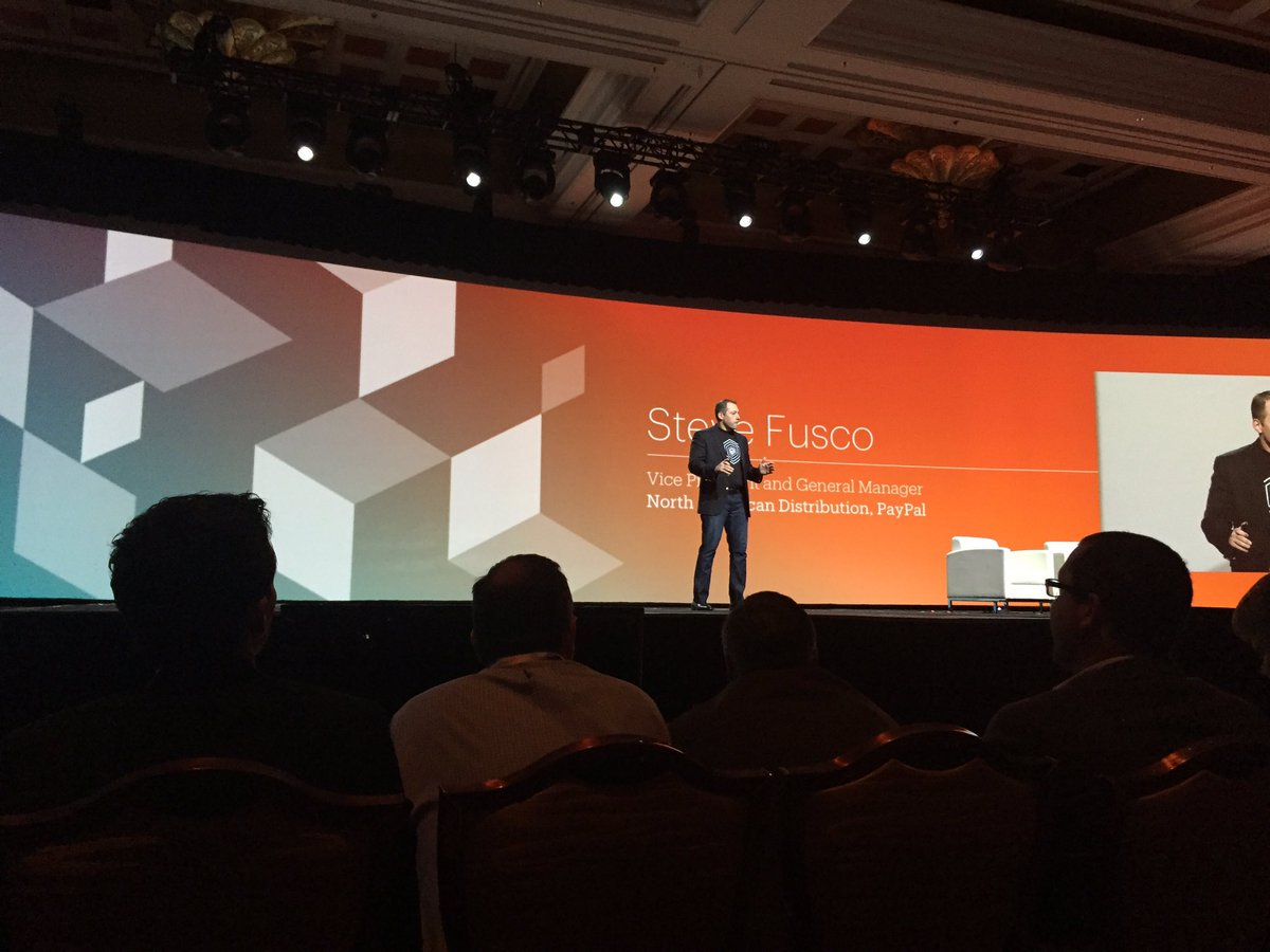 carolynmellor: #magentoimagine @fusco_stephen on stage talking about reimagining money @PayPalBusiness https://t.co/7stfHPCEQ3