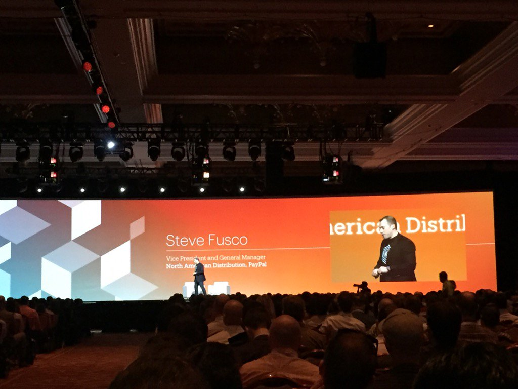 magento_rich: Steve Fusco from @PayPal on stage now. #MagentoImagine https://t.co/4gE0TcspNW
