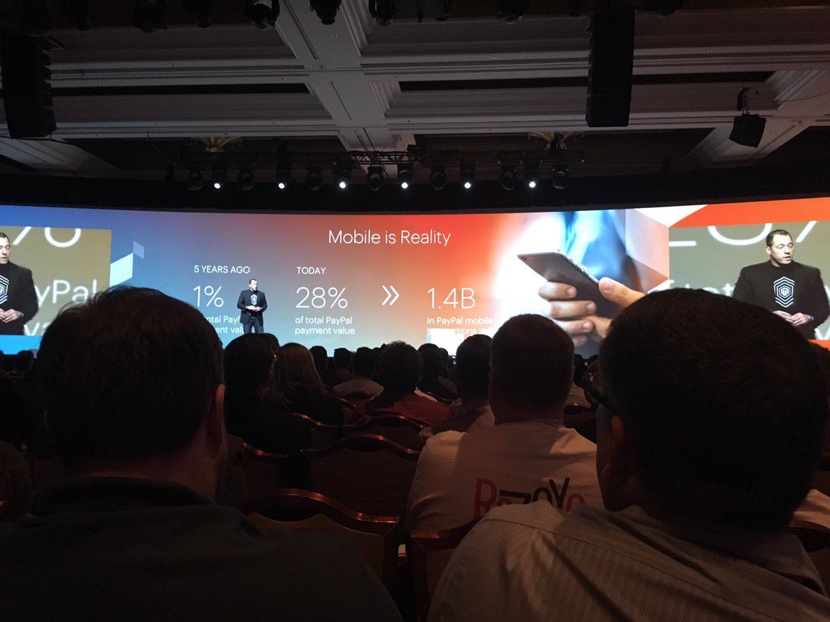kristinemcnerdy: 'Mobile is reality.' @fusco_stephen of @PayPal #MagentoImagine https://t.co/6ARSkvPmU1