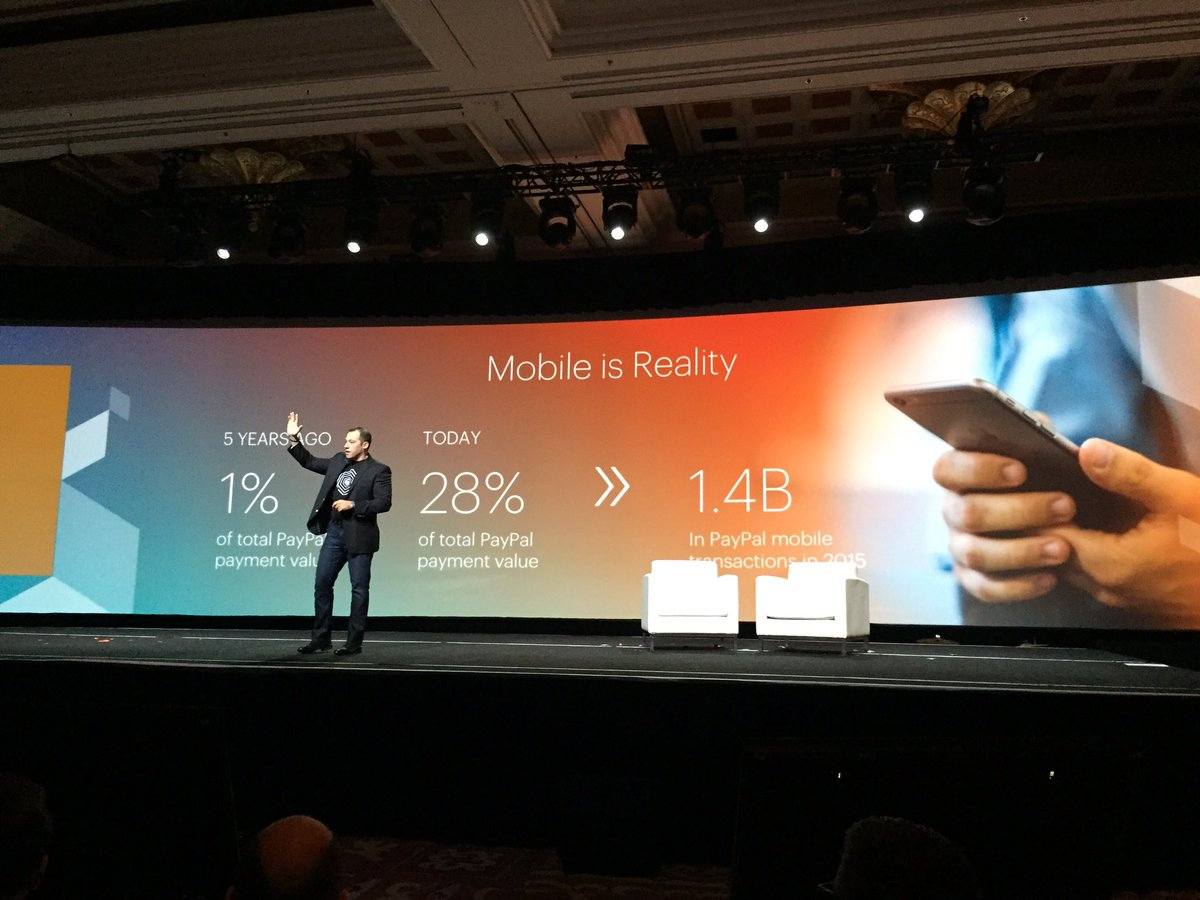 ignacioriesco: Mobile Payment is here. Is a Reality. Is Now. @PayPal #MagentoImagine https://t.co/vo41KNFV7l