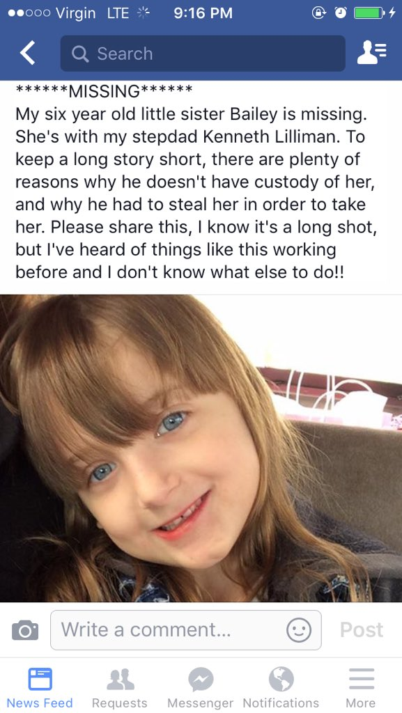 The little sister of 1 of our servers in Muncie is missing. Any help locating her would be greatly appreciated. https://t.co/uzNp3Hnyhc