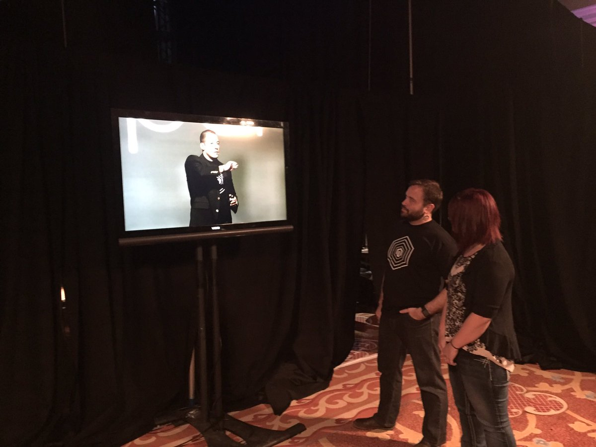 peter_sheldon: Backstage watching the #MagentoImagine keynotes with @benmarks and @sherrierohde https://t.co/C92kRqcwws