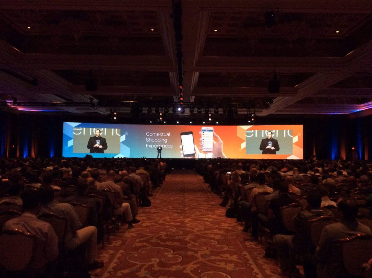 magento: 'Instead of bringing the customers to you, you need to go to the customers' @fusco_stephen #MagentoImagine https://t.co/8MVjHW5zeU