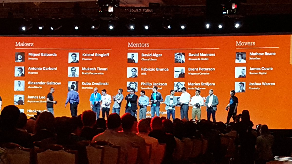 betz826: Magento Developer Awards at #MagentoImagine! Congrats to all. https://t.co/TnoIg1zVHm