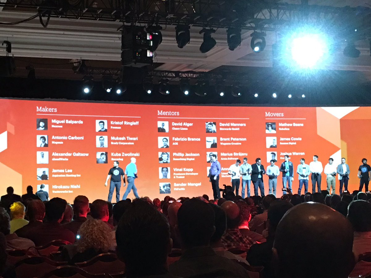briggsbrandon: What great minds and contributors as Magento Masters. Thanks for all you do! #MagentoImagine https://t.co/RccgRzm6S1