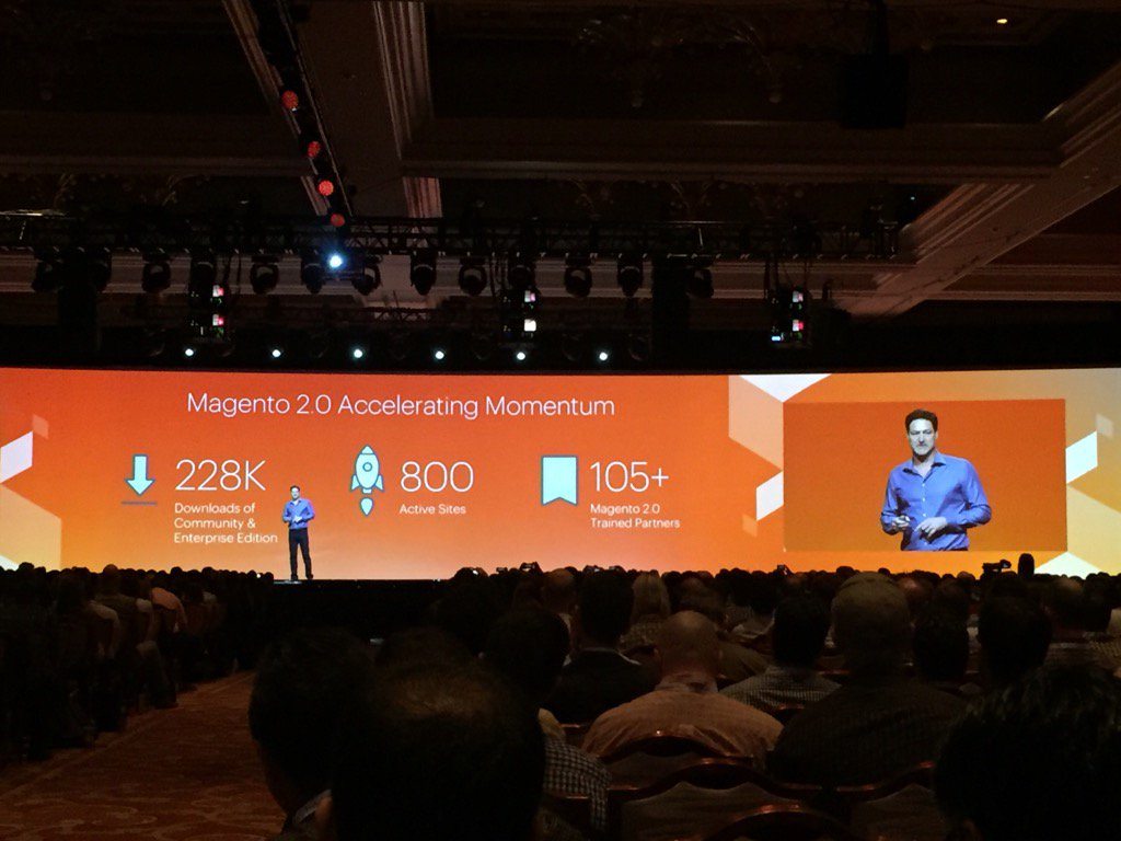 magento_rich: Magento2 gaining momentum! #MagentoImagine https://t.co/tgO5QLzKJz
