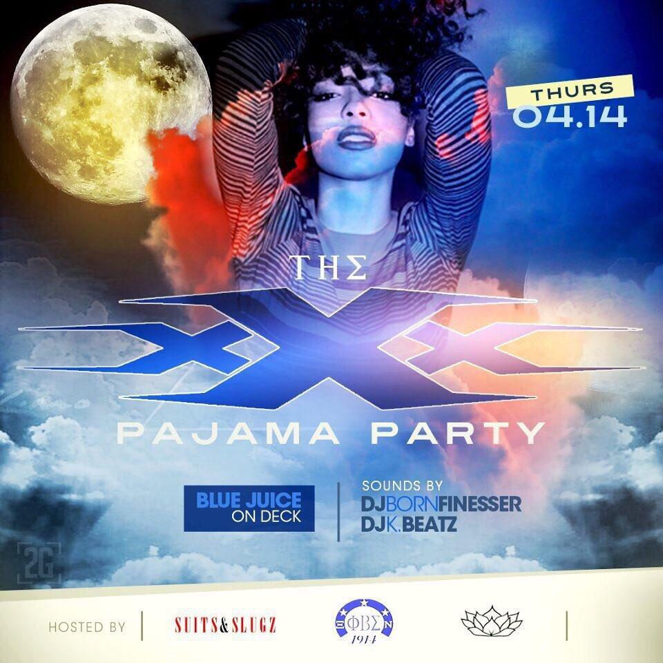 XXX PAJAMA PARTY ⁉️ @SuitsnSlugz ❗️@ECU_Sigmas1914 ❗️@LotusonDemand ❗️$5 TICKETS https://t.co/jLiVs2bXqa