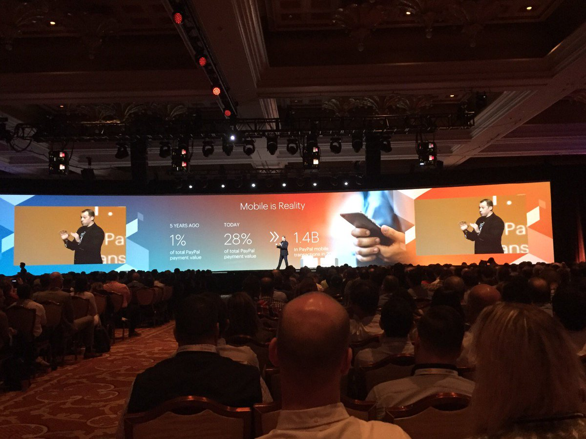 SirGrantFleming: day2 starts with @fusco_stephen from @PayPal talking mobile reality #magentoimagine https://t.co/Kx9mM0xLVL