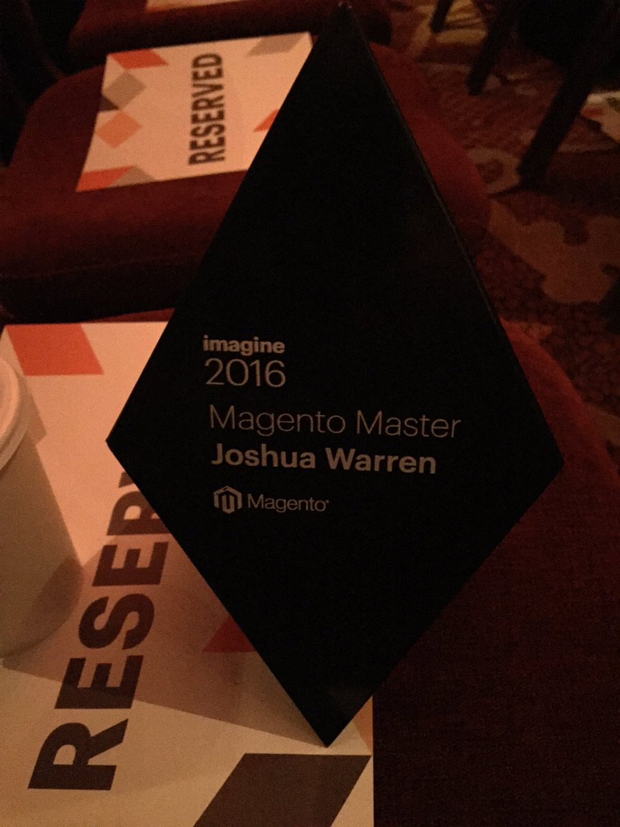 JoshuaSWarren: #RealMagento community - I want *you * to win this award next year. Come find me at #MagentoImagine and let's chat! https://t.co/1JoCK5pqry