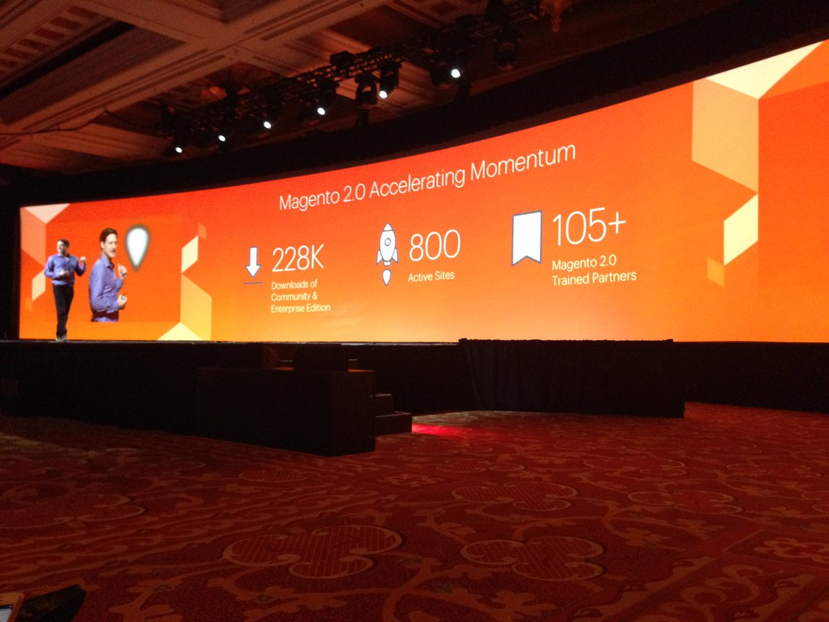 SheroDesigns: #Magento2 #Momentum - Looking forward seeing the #innovation in the upcoming months #magentoimagine @magento https://t.co/kSGztRJwmC