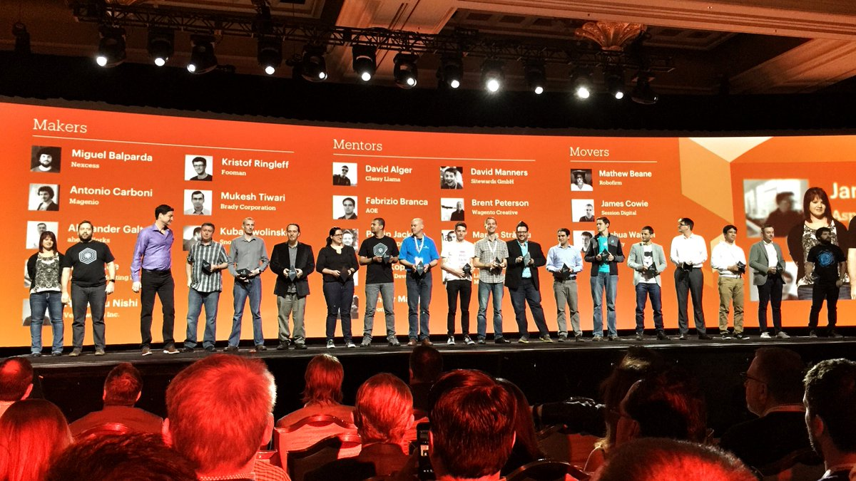 petemcw: Huge congratulations to the many Magento Masters developers! Thanks for your hard work. #magentoimagine https://t.co/2VbXemyihR
