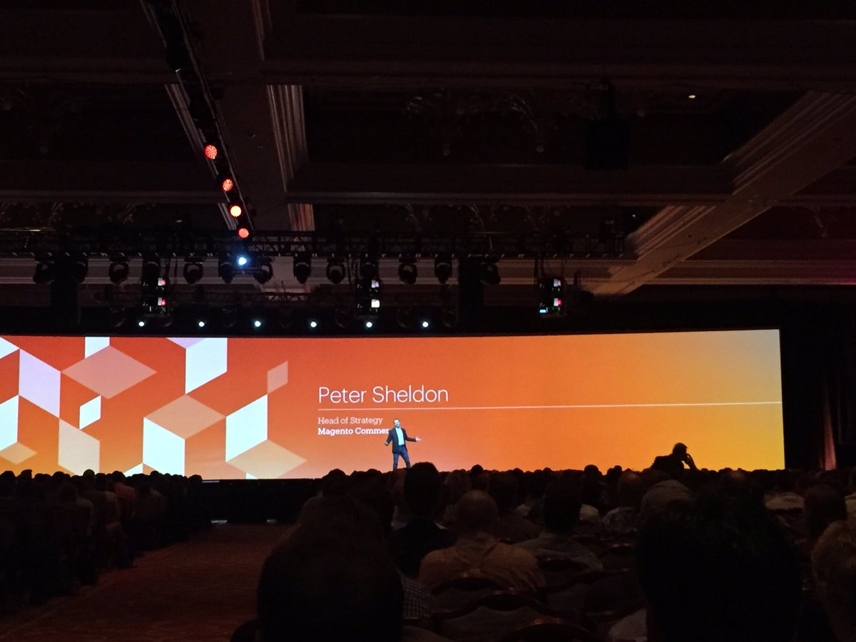 magento_rich: .@peter_sheldon on stage to tell us more about @magento Cloud. #ECE #MagentoImagine https://t.co/e6uDLGvlU7