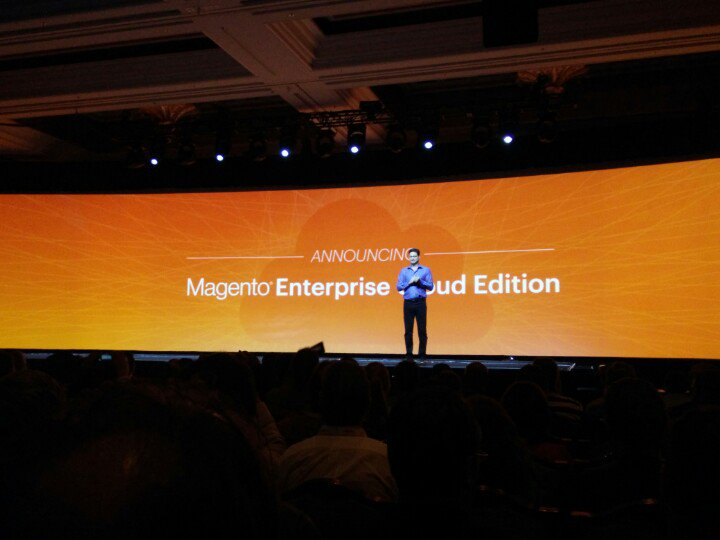 netz98: The game changer is here! Magento launches the Magento Enterprise Cloud Edition. #MagentoImagine https://t.co/PS291O7Xmx