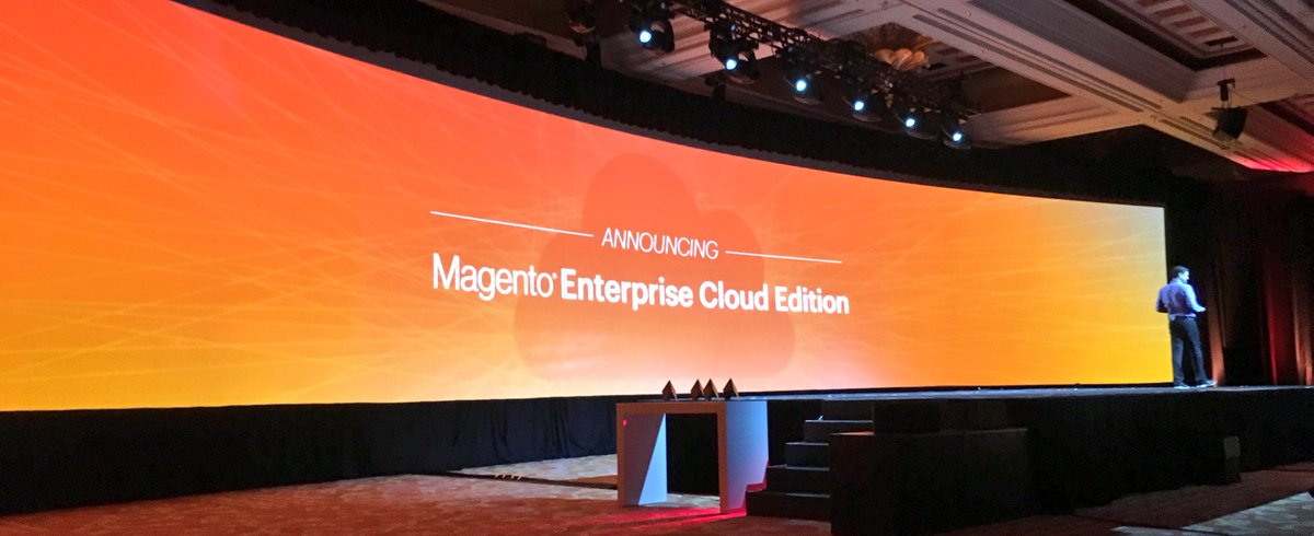 benmarks: Thank god, now the secret is out at #MagentoImagine...nn@mklave1 just announced @MAGENTO ENTERPRISE CLOUD EDITION!! https://t.co/6wUp2tL3AY