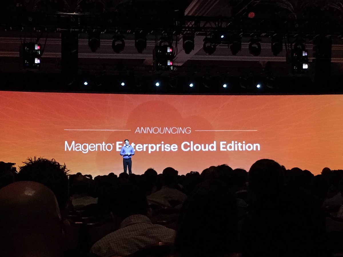 wsadaniel: @magento announces Magento Enterprise Cloud Edition, PaaS reduces complexity in rollout & maint. #MagentoImagine https://t.co/8HXeVB015J