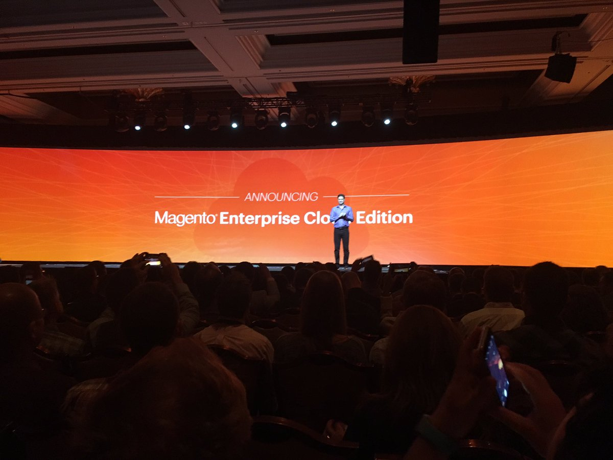 creaminternet: Magento komt met een cloud edition voor Magento Enterprise. #MagentoImagine https://t.co/YxipKEqpCk