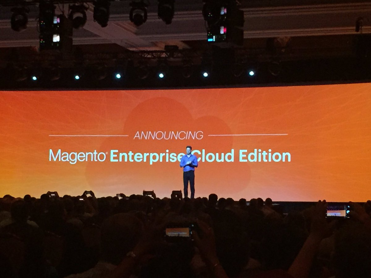 annhud: A huge step for #eCommerce: @Magento Enterprise Cloud Edition #magentoimagine #bignews #cloud https://t.co/k9LIAaSa7B