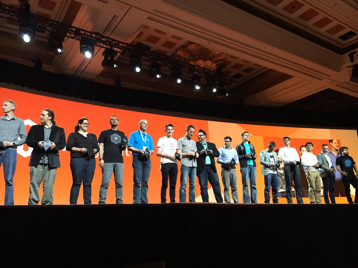 SnowdogApps: #Magento Masters on stage! Proud to see @snowdog our CEO in such a great company #magentoimagine https://t.co/Yp0HJ29VV4
