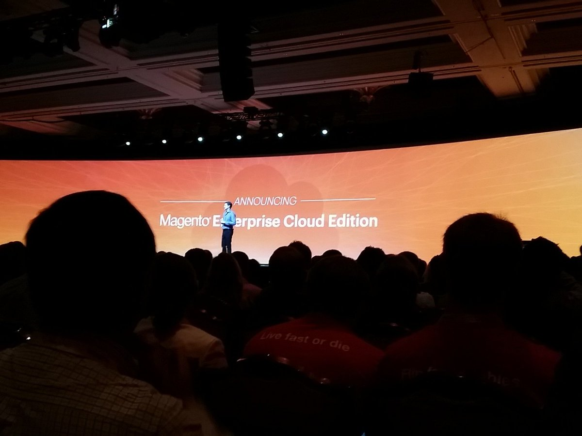 tig_nl: Announced magento enterprise cloud edition.. #ImagineCommerce https://t.co/qFLBuTRNTW