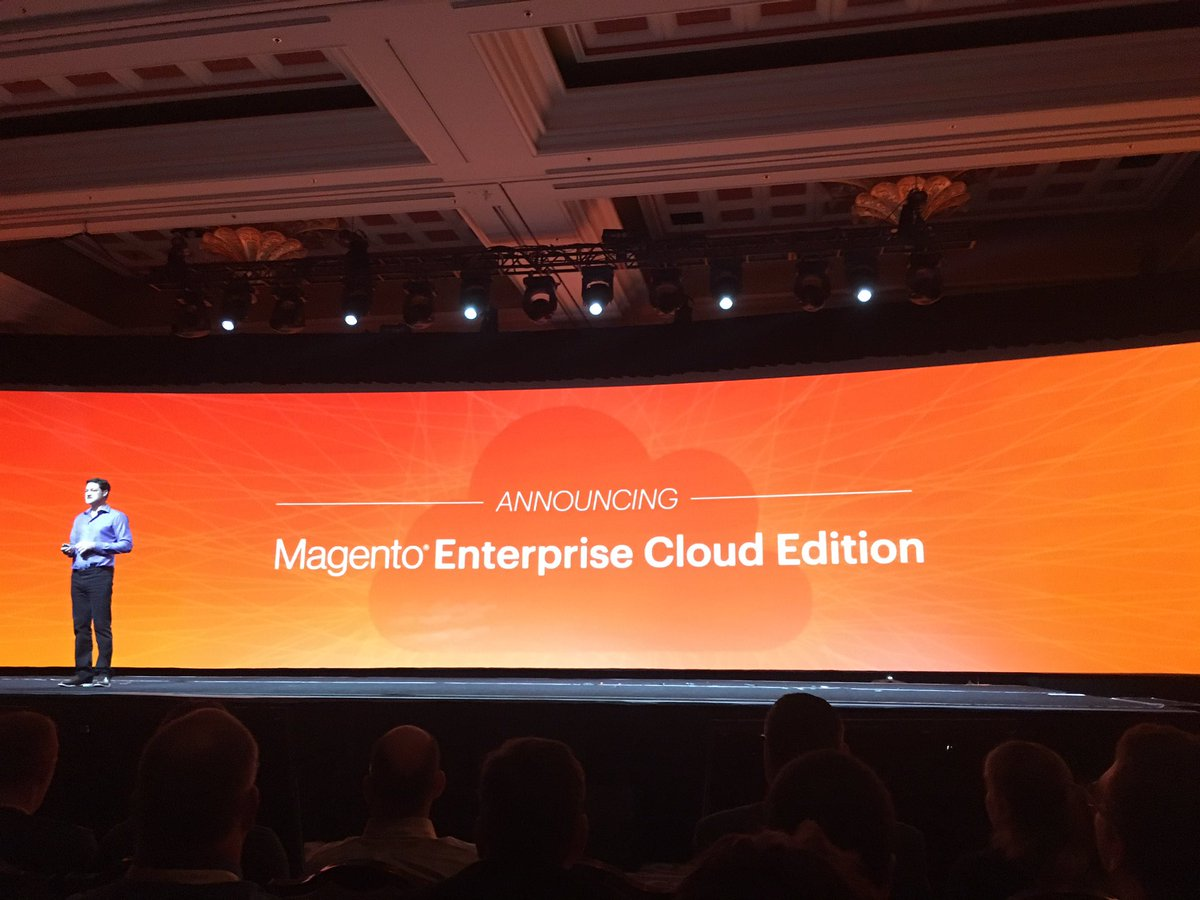 alexanderdamm: Just announced Magento Enterprise Cloud Edition #MagentoImagine https://t.co/PQuFR3Fkl5