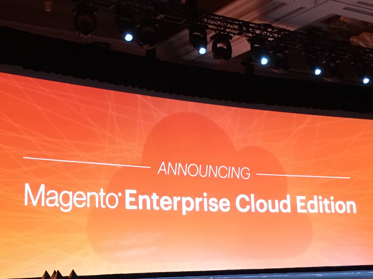 magentogirl: Announcing the @Magento Enterprise Cloud Edition #PaaS #MagentoImagine https://t.co/mPSFUyoidg
