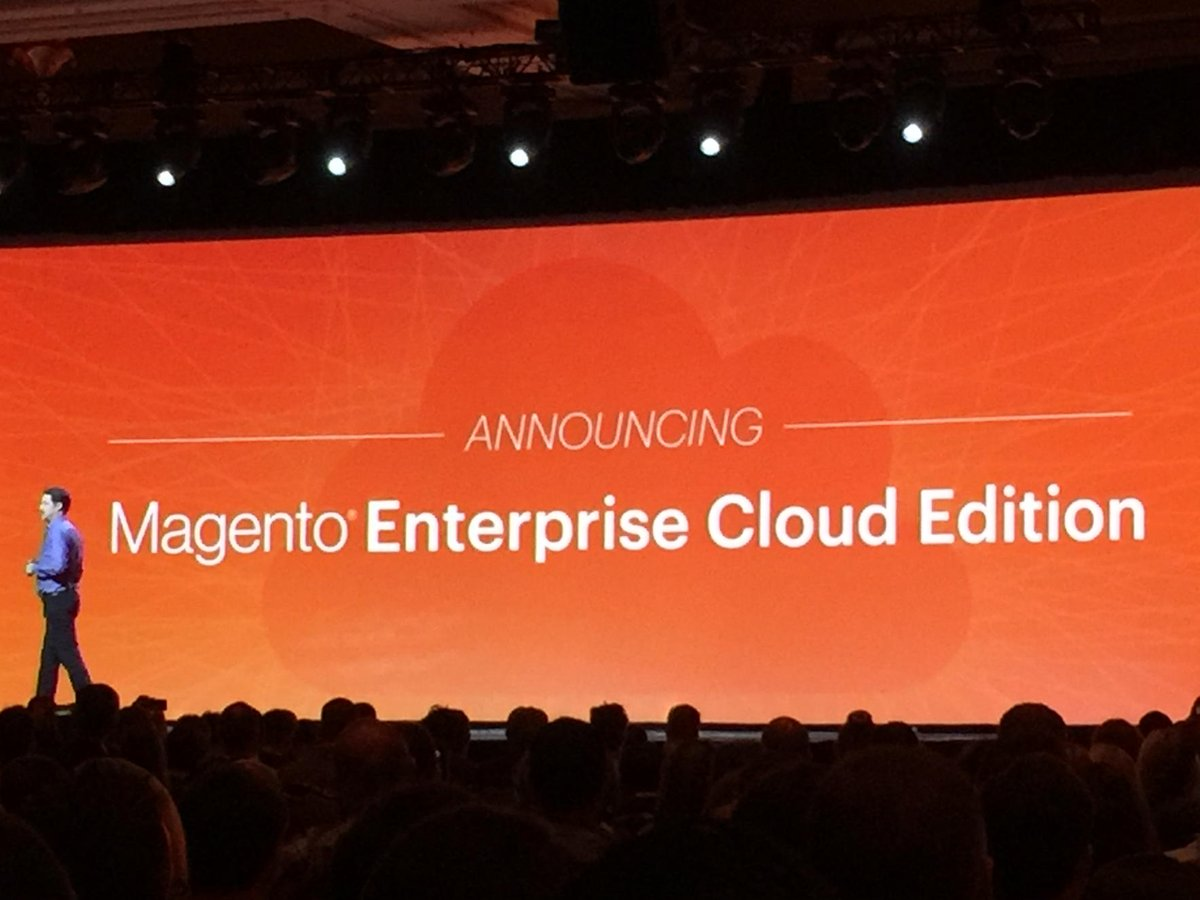 art_boyd: @magento launches CLOUD for M2!  #MagentoImagine https://t.co/DNk23CqWxM