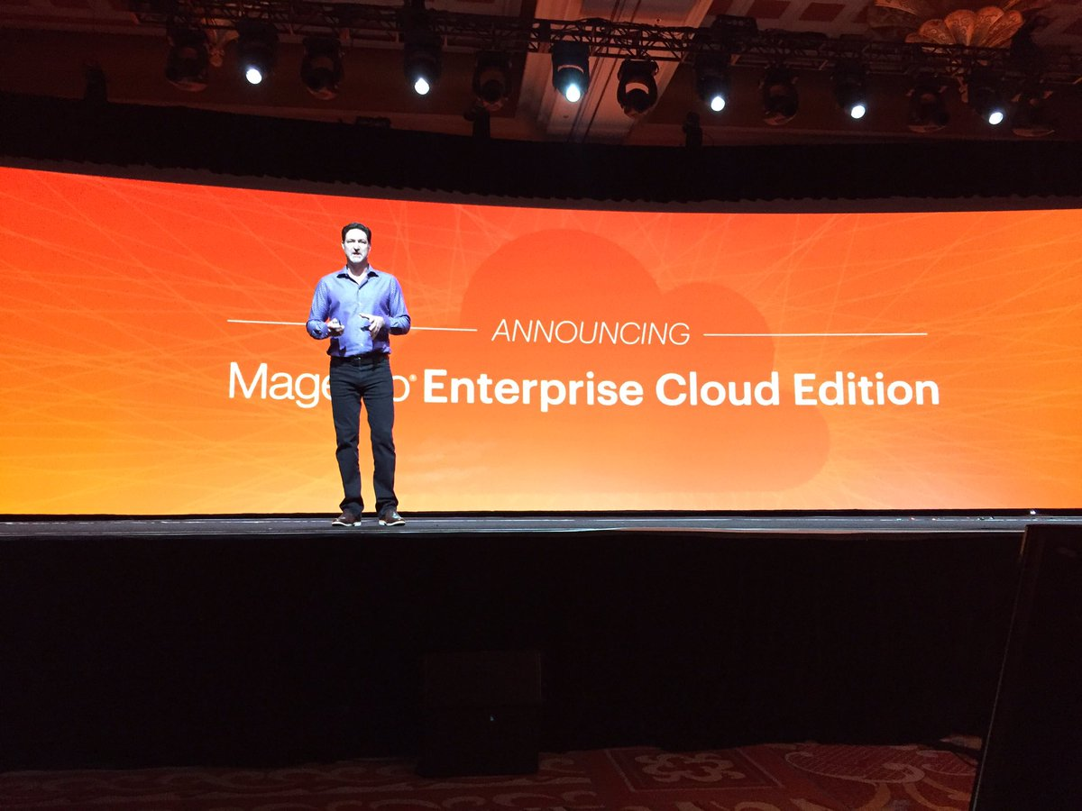 ProductPaul: Magento Enterprise Cloud Edition...this is a game changer. #MagentoImagine https://t.co/1R1myJ7DeI