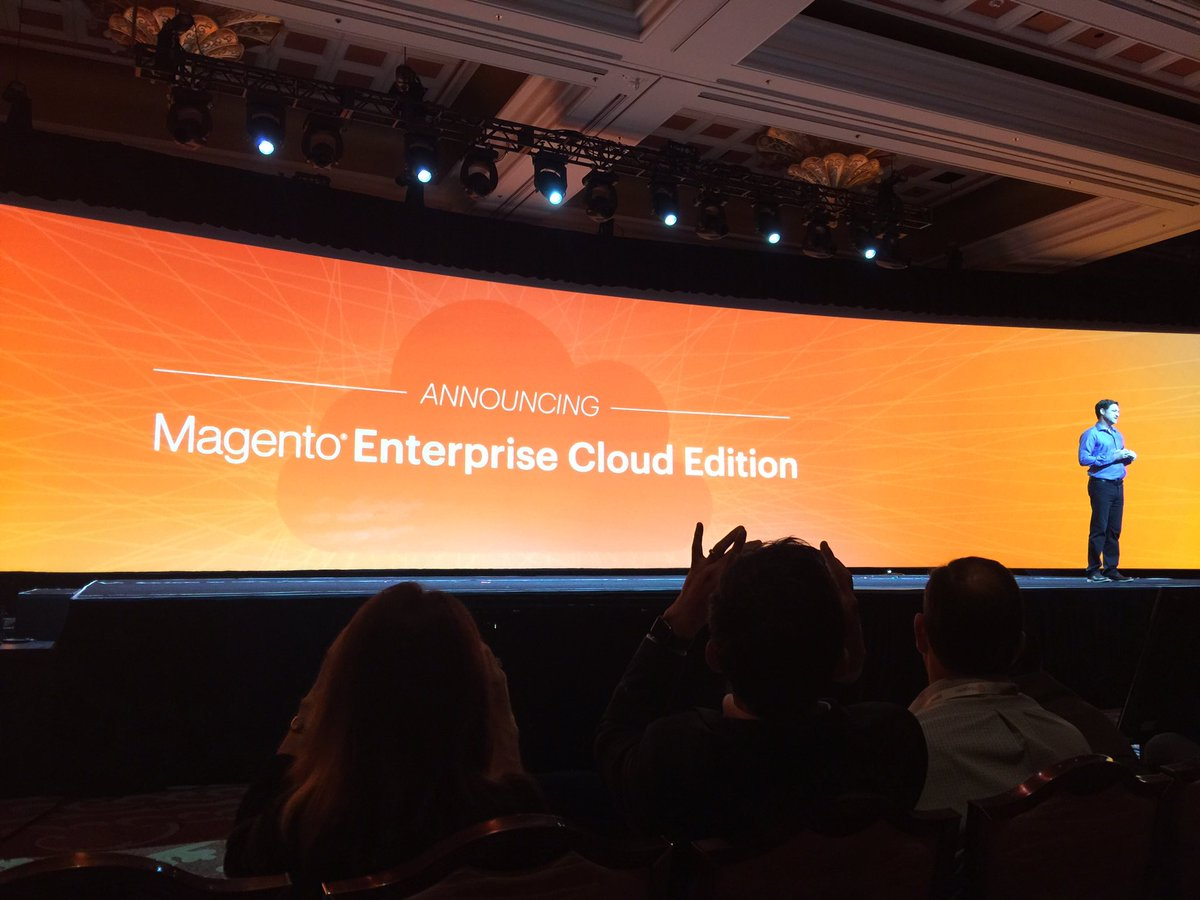 alexanderpeh: .@mklave1 announces @magento Enterprise Cloud Editionn#MagentoImagine #DoYouEvenCloud https://t.co/Lyx1uDJ4kQ