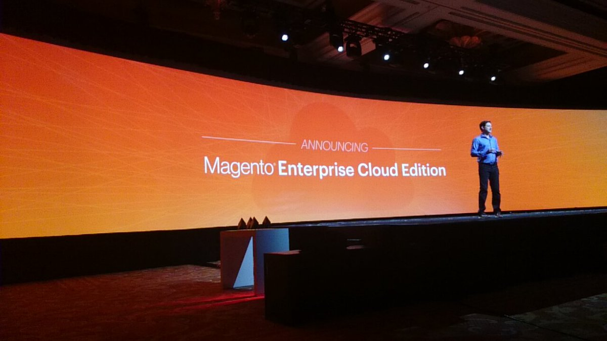 hirokazu_nishi: magento enterprise cloud edition! #MagentoImagine https://t.co/vVCO1VZCmP