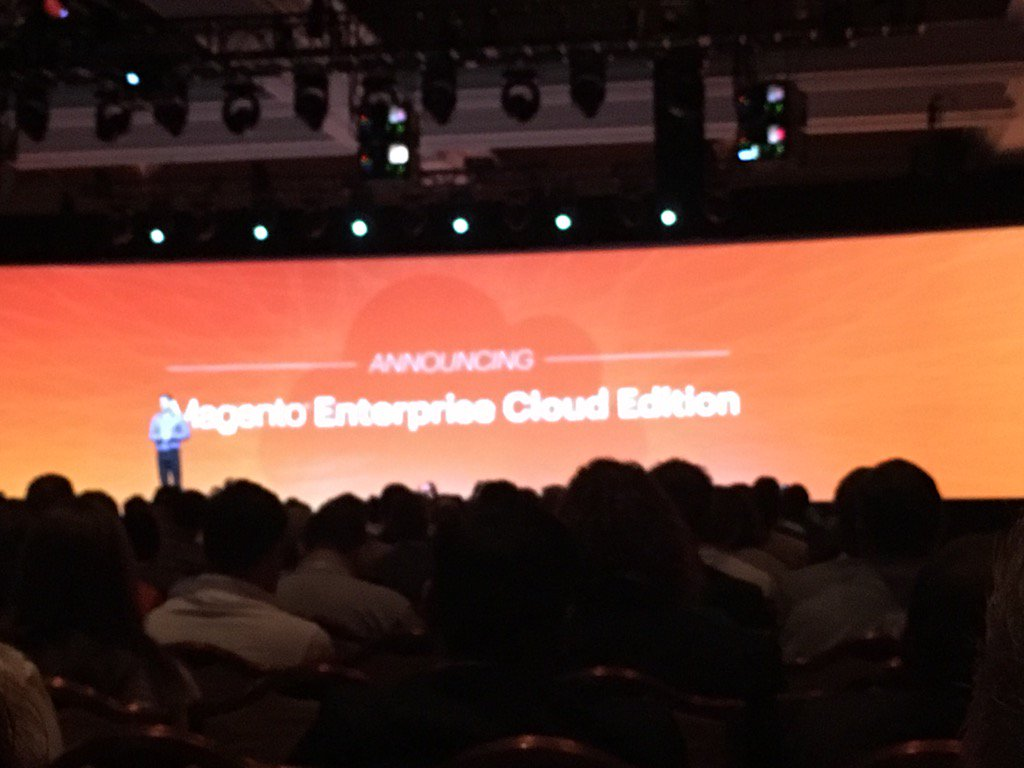 monsoonBharat: Bang magneto enterprise cloud is now on with bags of goodies Imagine2016 #MagentoImagine https://t.co/IsivqdbW8m