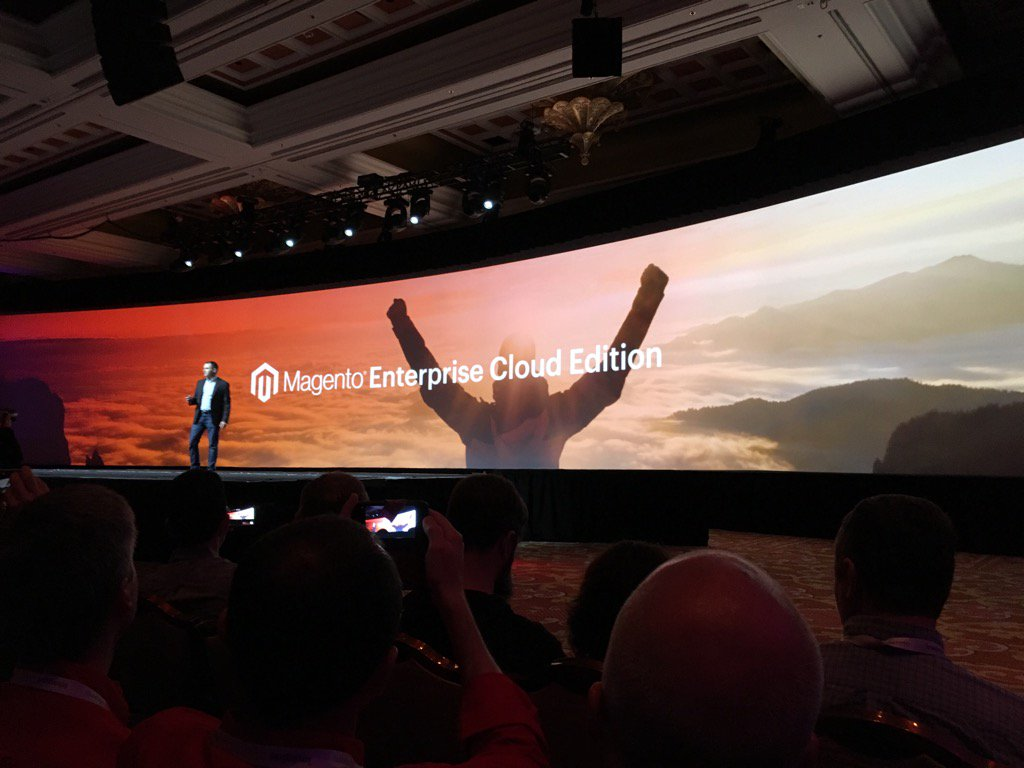 jonathanmhodges: At #MagentoImagine they just announced Magento Enterprise Cloud Edition. This will be interesting for many. https://t.co/1qaHZpnMIM