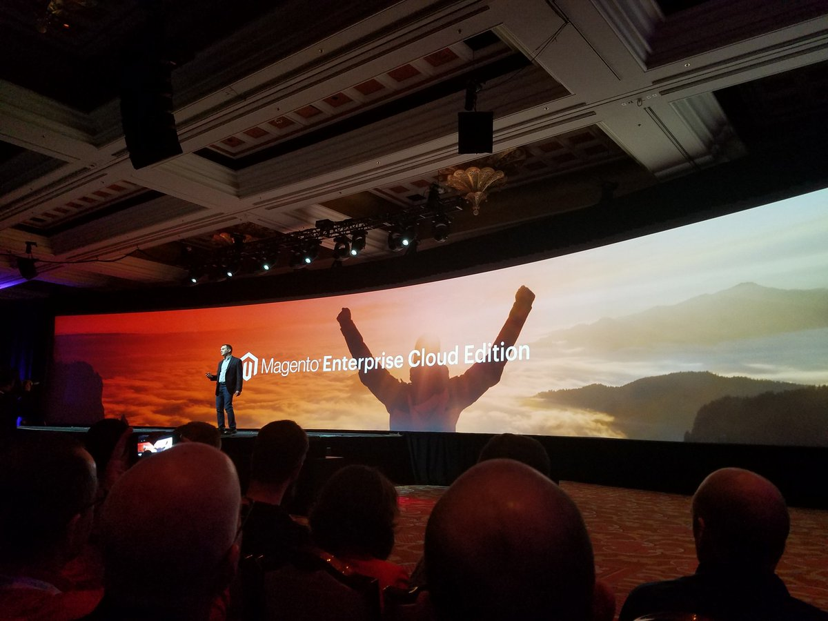 ddavidn: #MagentoImagine ...Turning the clouds orange. Interesting. https://t.co/wSftF2SUG1