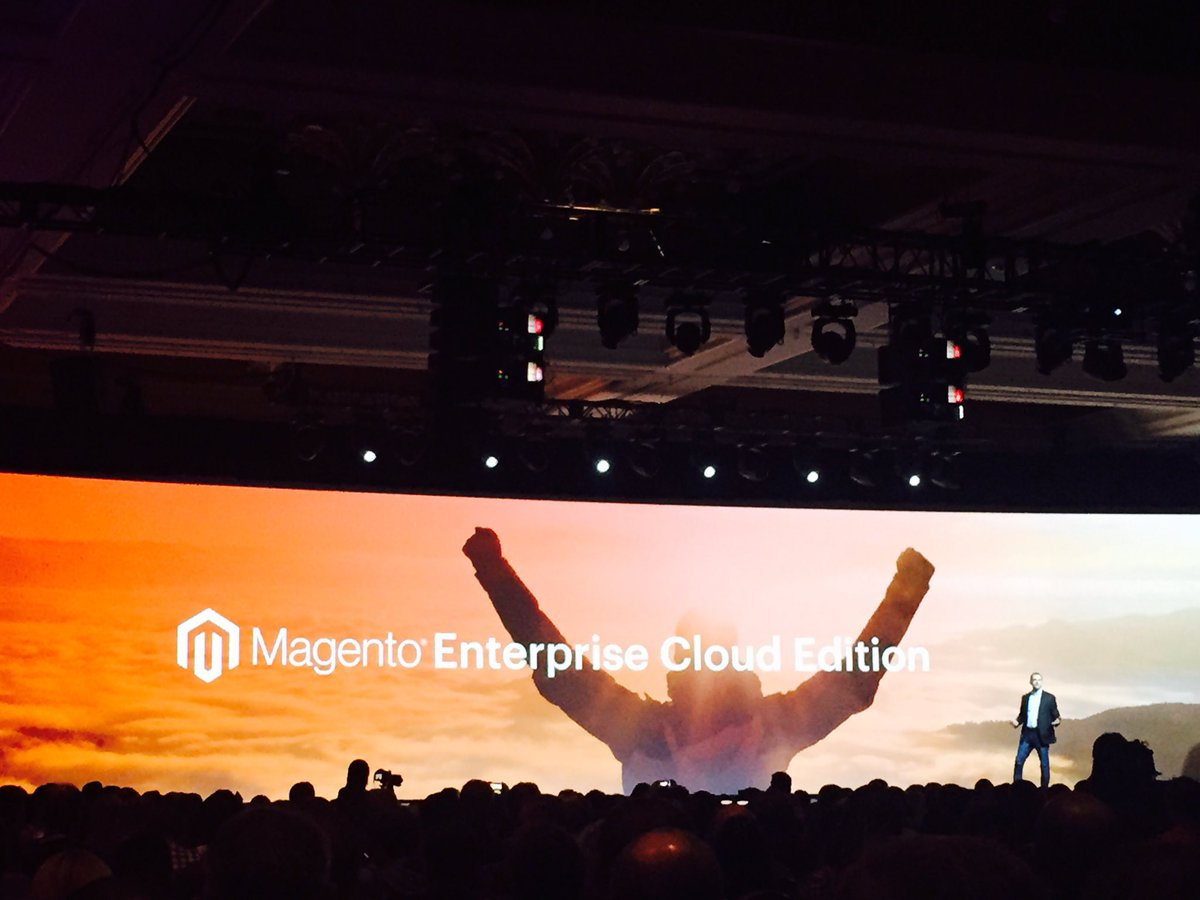 MagentoShira: Big news today. #MagentoImagine announces Magento Enterprise Cloud Edition. @peter_sheldon on main stage https://t.co/v29nOPP3kb