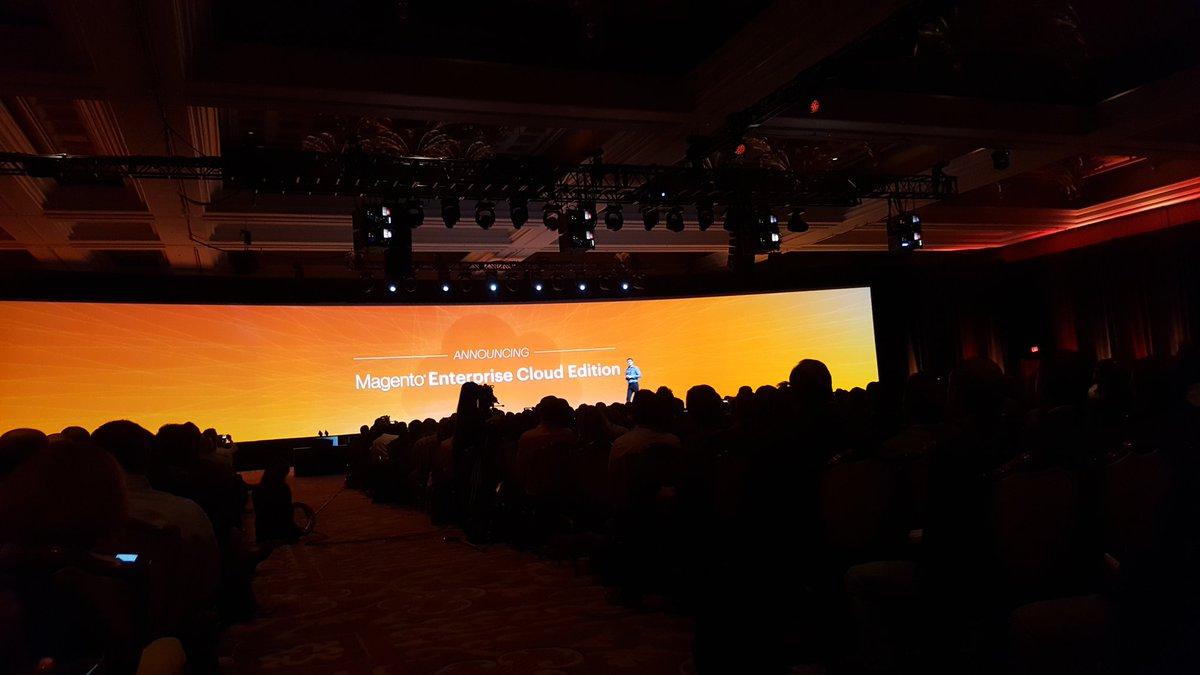 ABurocco: #Magento annuncia al #MagentoImagine il nuovo prodotto 'Magento Enterprise Cloud Edition' https://t.co/mTrqiB710F
