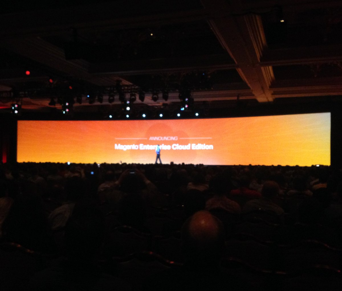 HumanElementA2: Magento announces Enterprise Cloud Edition at first general session. #MagentoImagine https://t.co/lDmw8GpOVi