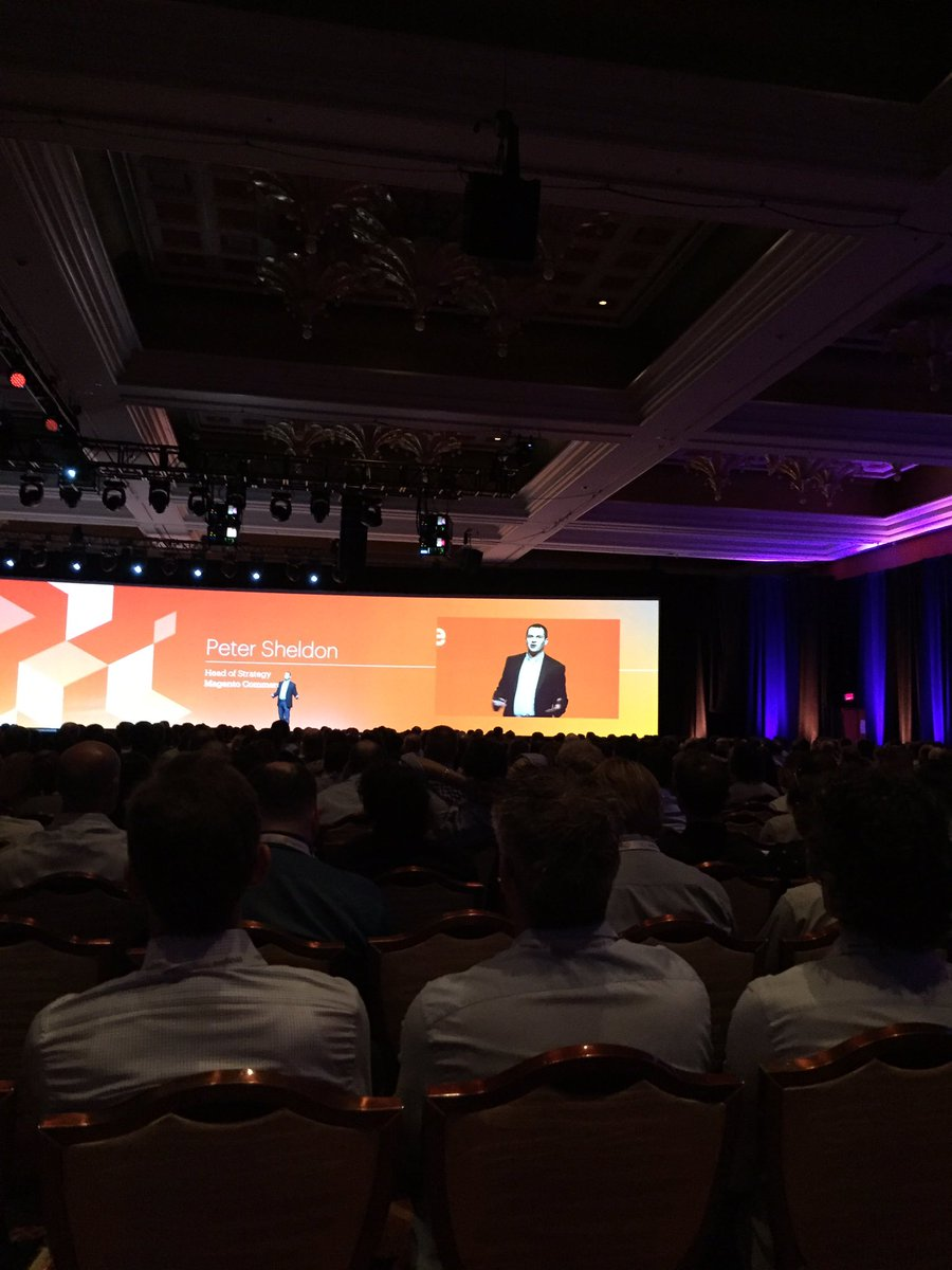 mattdion: Magento Enterprise Cloud Edition - exciting news from @peter_sheldon  #MagentoImagine https://t.co/E1hSGZhst3