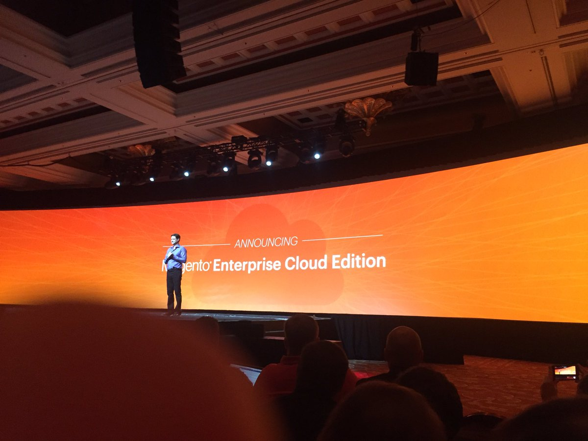vaimoglobal: @mklave1 revealed the Magento Enterprise Cloud Edition 😯 #MagentoImagine #Vaimo #Imagine2016 https://t.co/mLn0y3R5kq