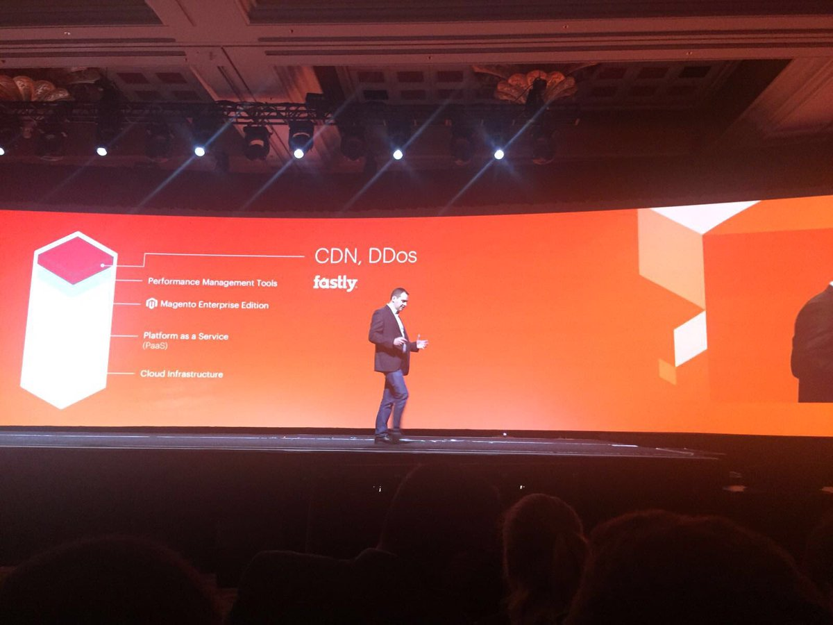ignacioriesco: But what is the @Magento Enterprise Cloud Edition? A natural evolution. CDN. Ddos #MagentoImagine https://t.co/me3dHVgH2N