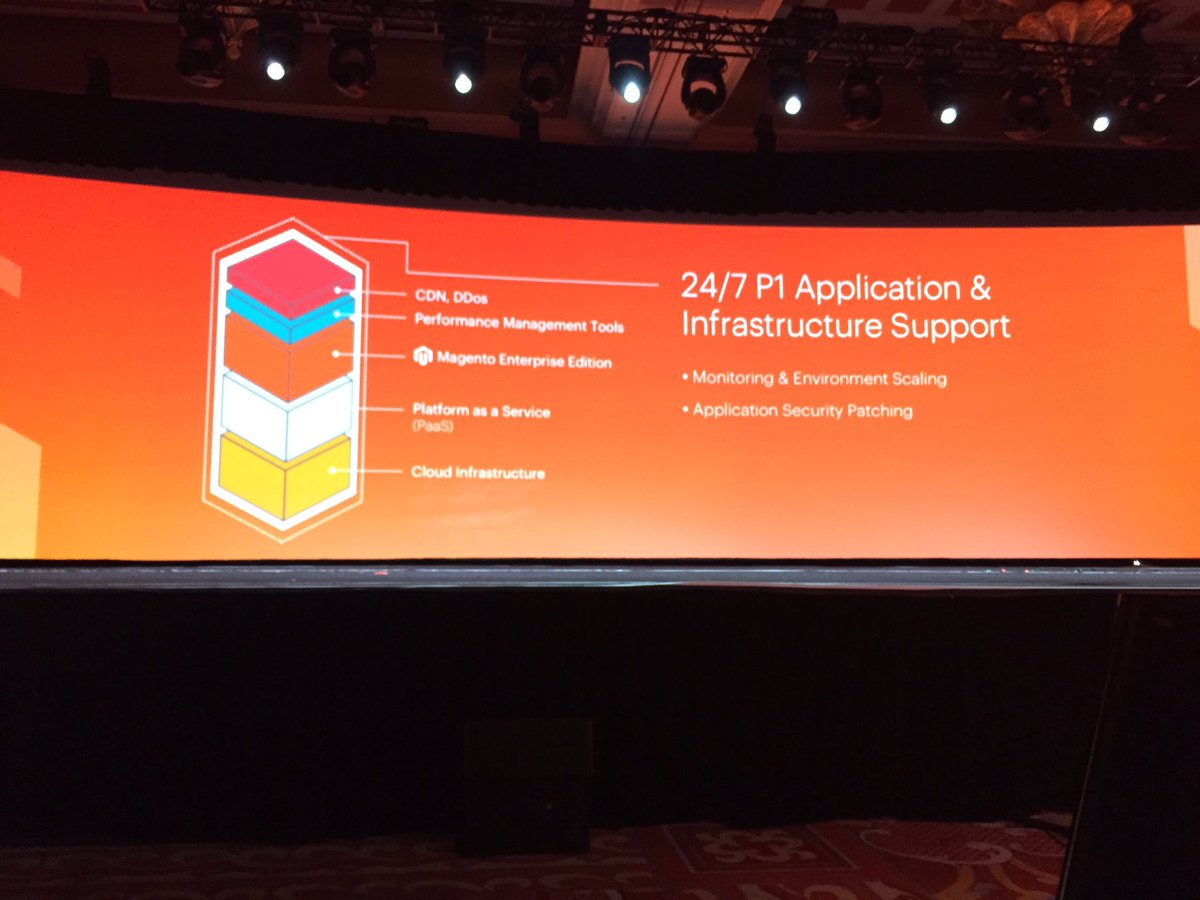 ProductPaul: Enterprise Cloud edition--the full stack on AWS. Peace of mind as a Service. #MagentoImagine https://t.co/jst0WIsxfK