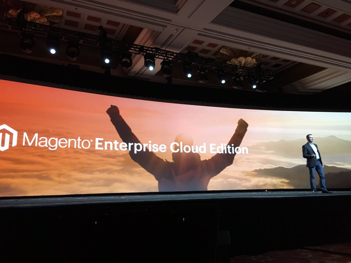brpressley: .@peter_sheldon reveals @Magento Cloud 'Clouds & orange were meant to be together'-best line ever @ #MagentoImagine https://t.co/LokT5RpNQa