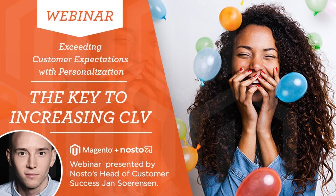 NostoSolutions: #Webinar: Exceeding Customer Expectations With Personalization / May 4th->  https://t.co/6CnxCu2Xuy #MagentoImagine https://t.co/vRQeQg8piC