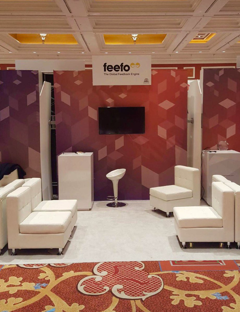 FeefoUsa: Rise and Shine!! Booth 419 is coming together! Swing by today to learn what's new with Feefo #MagentoImagine https://t.co/4GpCYPlwfu