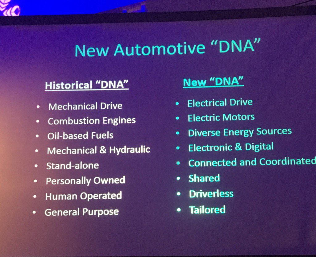 Check out former GM R&D chief Larry Burns' view of future auto DNA. #SAECongress https://t.co/yPGGd61wgn