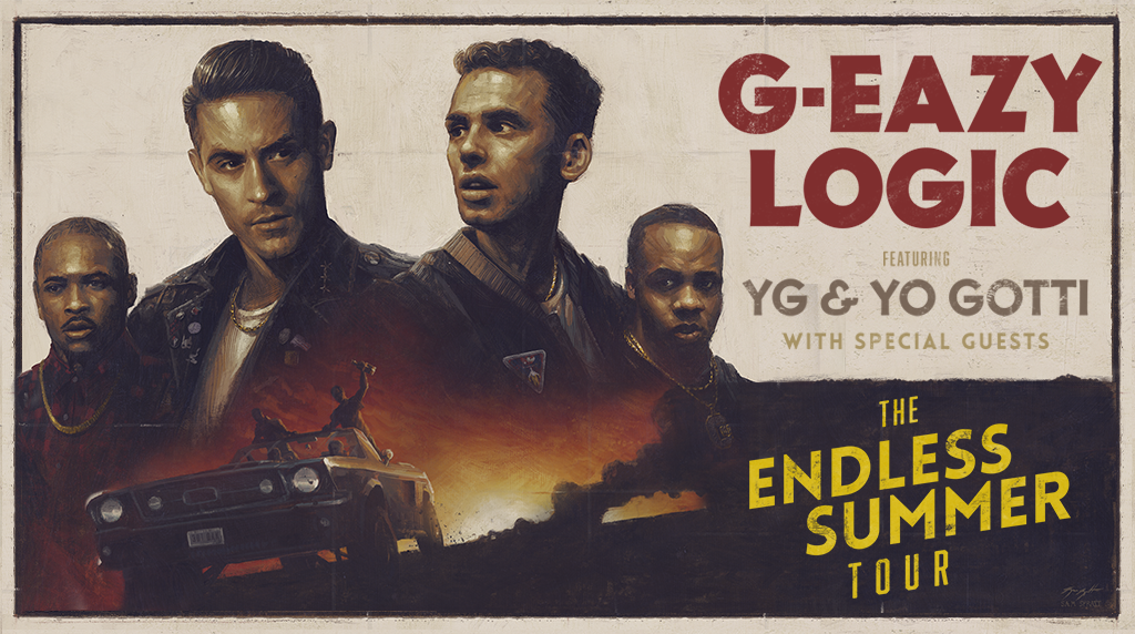 - @G_Eazy & @Logic301 will be here 7/14 w/ @YG & @YoGottiKOM! Tix onsale Friday @ 10a! RT if u will be at the show! https://t.co/GfWhJ8JDli