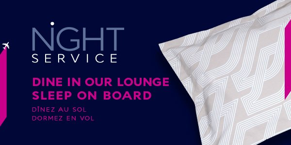 Introducing Night Service at JFK for Business Class passengers on select flights! More Info: