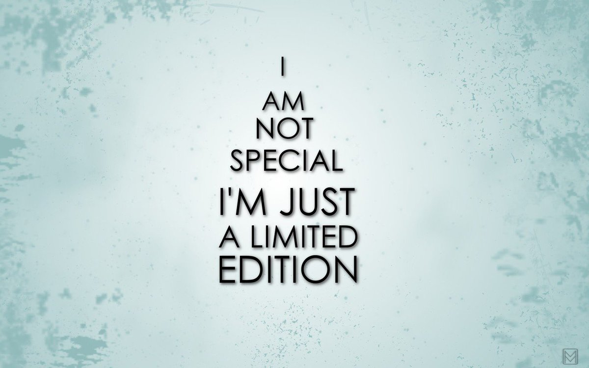 YOU are a limited edition. There's only one you and you are AMAZING! https://t.co/btPhEHbHSS