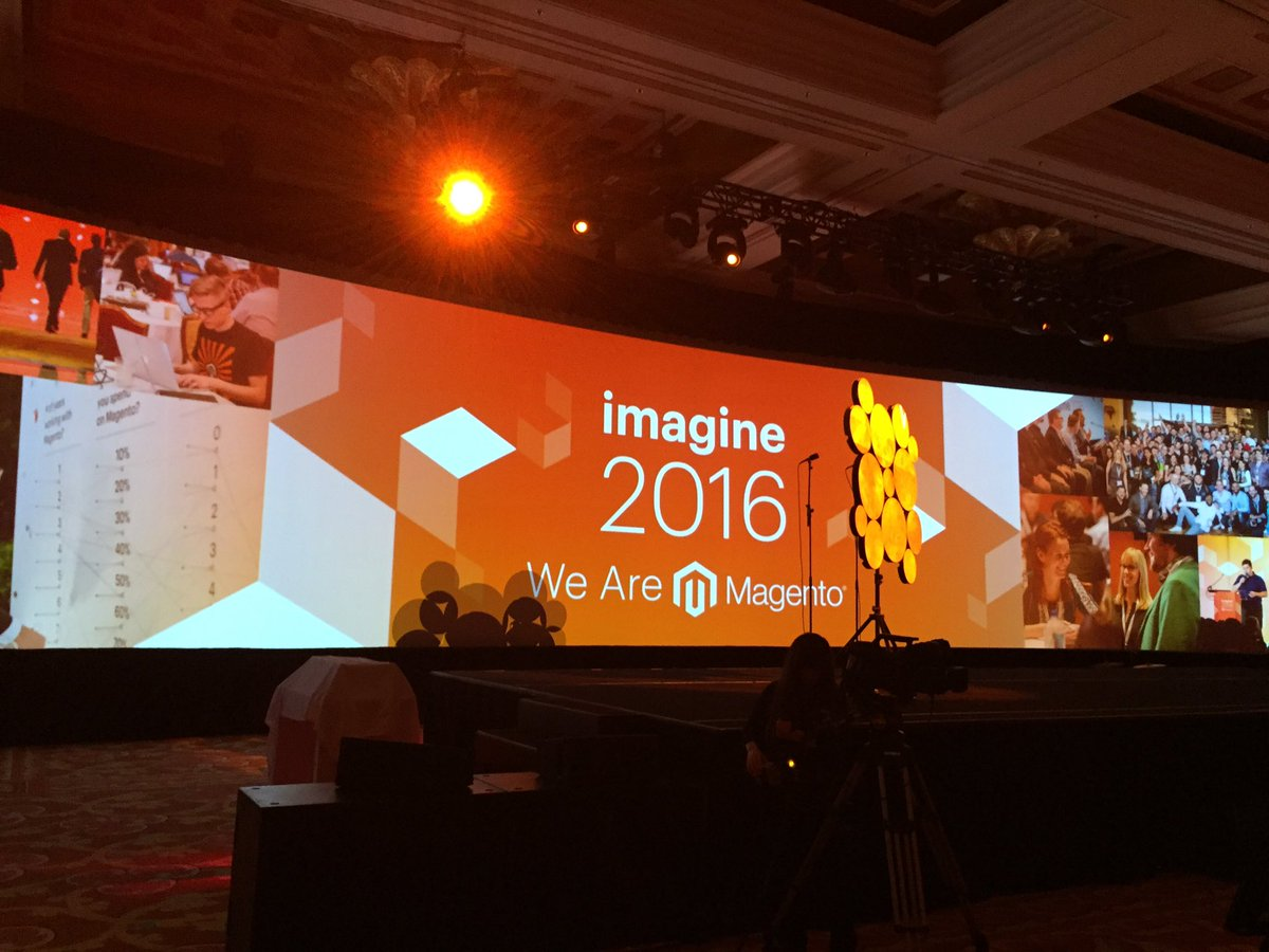 carolynmellor: #MagentoImagine getting ready for the general session @PayPalBusiness https://t.co/MowfU40EJE