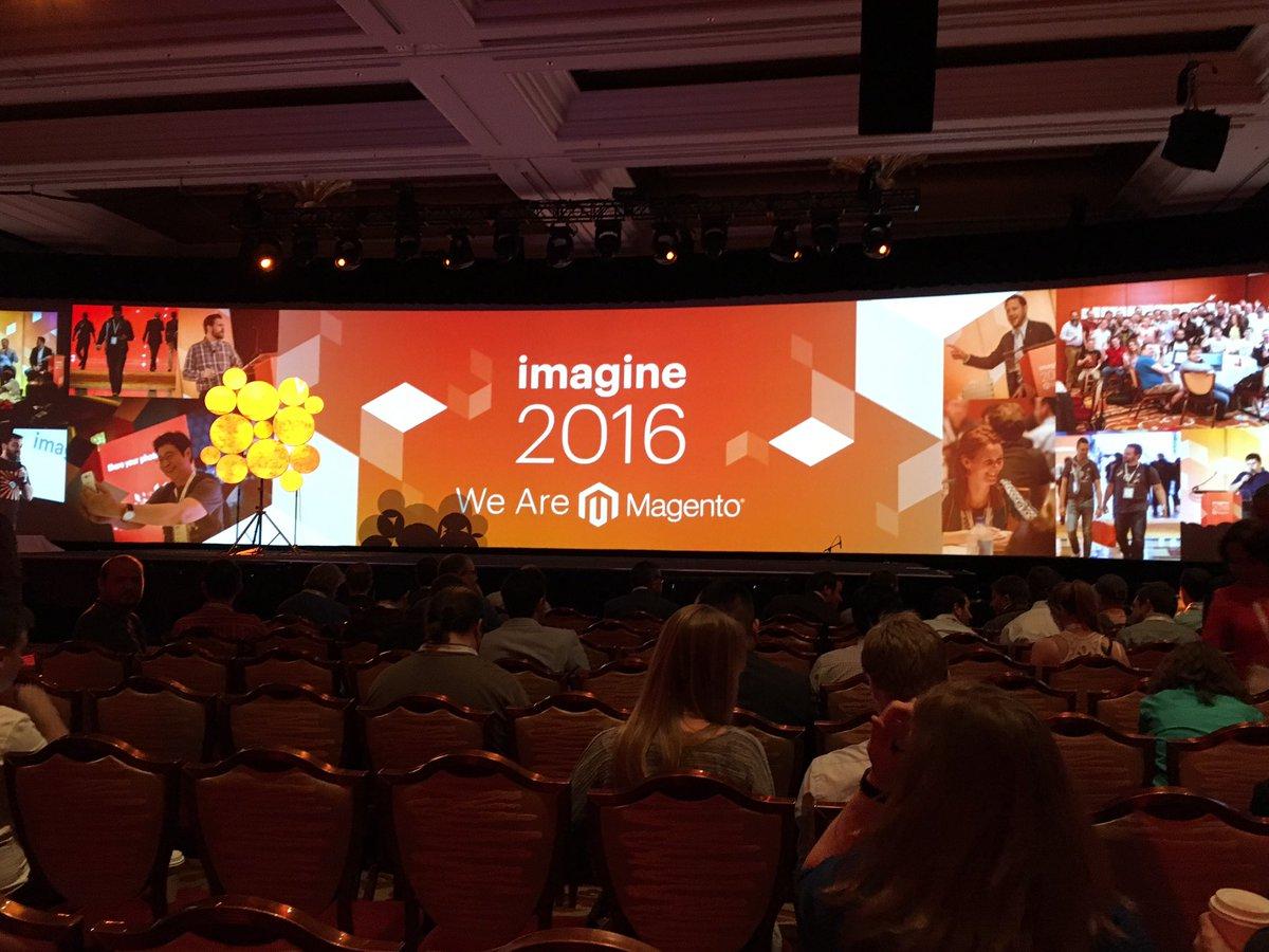 creaminternet: De Keynotes met de belangrijkste Magento ontwikkelingen gaat bijna van start #MagentoImagine https://t.co/zHmLR9D7Cz