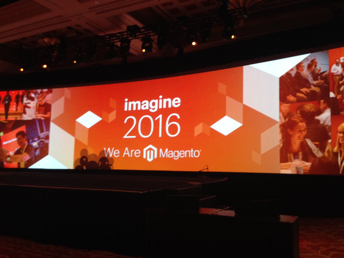 SheroDesigns: Keynote is about to start! We are #Magento! #MagentoImagine @magento https://t.co/ocgauLt6wb